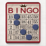 Retro Bingo Card Mouse Pads