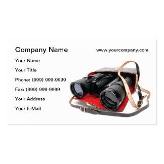 Retro binoculars business card templates