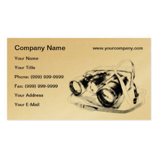 Retro binoculars business card template