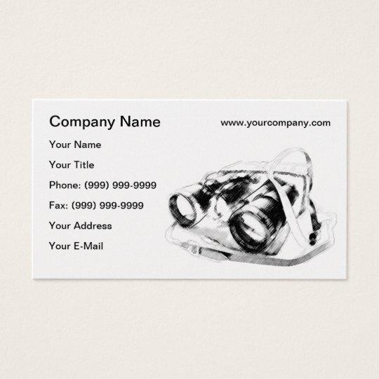 Retro binoculars business card
