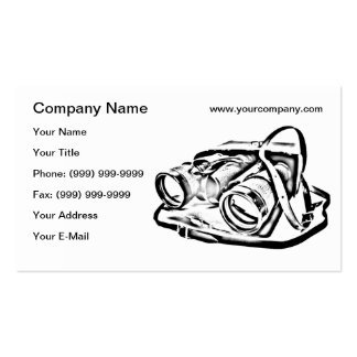 Retro binoculars sketch business card