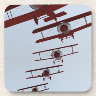 Retro Biplane Beverage Coaster