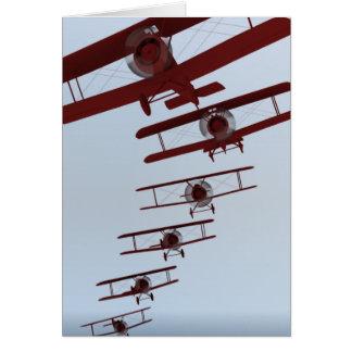 Retro Biplane Card