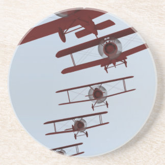 Retro Biplane Drink Coaster