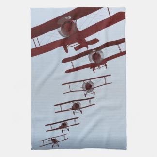 Retro Biplane Hand Towel