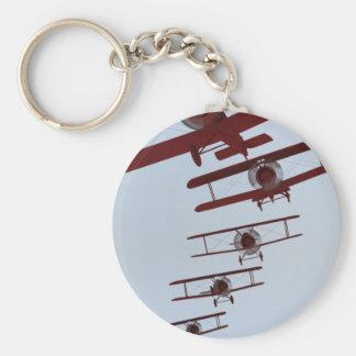 Retro Biplane Keychain