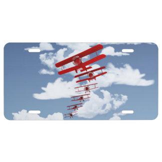 Retro Biplane License Plate