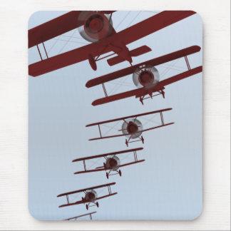 Retro Biplane Mouse Pad