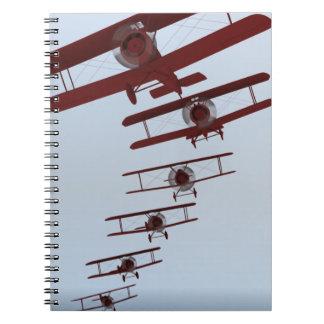 Retro Biplane Notebook