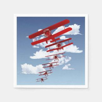 Retro Biplane Paper Napkin