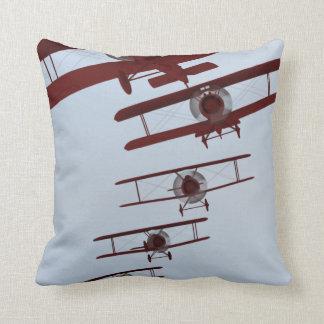 Retro Biplane Throw Pillows