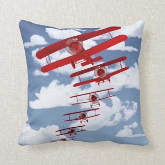 Retro Biplane Pillow