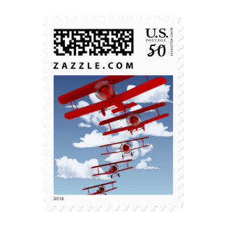 Retro Biplane Postage