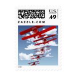 Retro Biplane Postage Stamp