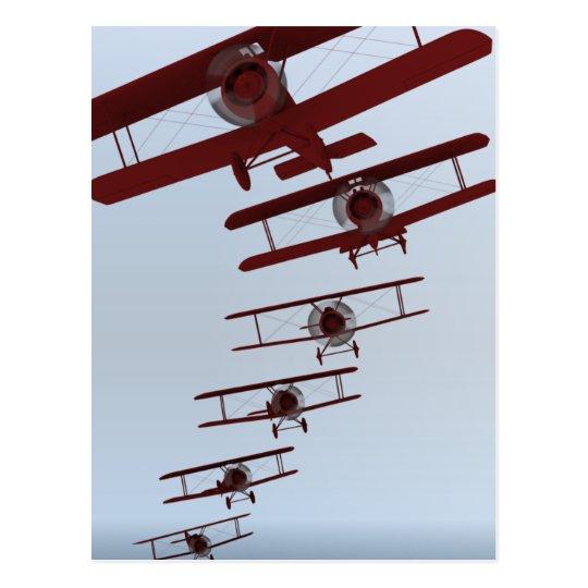 Retro Biplane Postcard