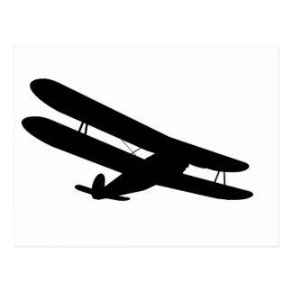 Retro Biplane Silhouette Post Cards