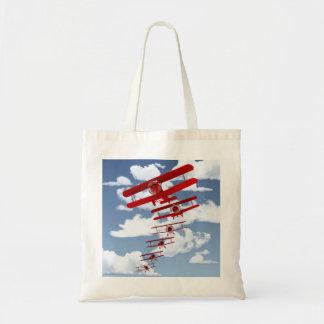 Retro Biplane Tote Bag