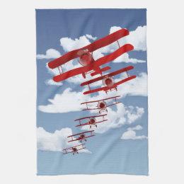 Retro Biplane Towel