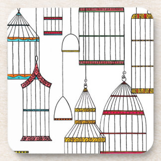 Retro Bird Cages Coasters