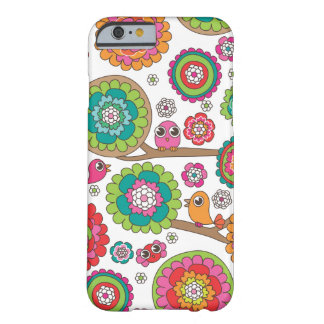 Retro bird pattern illustration barely there iPhone 6 case