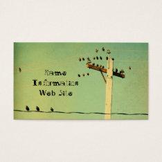Retro Birds Business Card at Zazzle