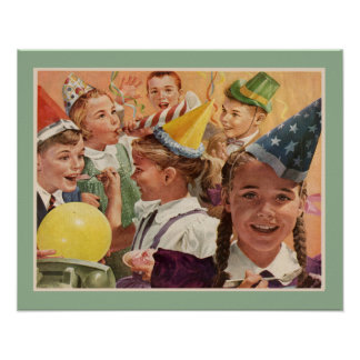 Retro Birthday Party Vintage Childhood Memories Poster