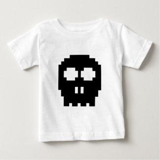 Retro Black 8-bit Skull Baby T-Shirt