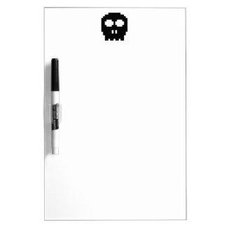 Retro Black 8-bit Skull Dry-Erase Whiteboards