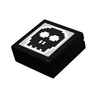 Retro Black 8-bit Skull Gift Box