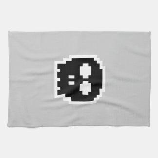 Retro Black 8-bit Skull Kitchen Towels