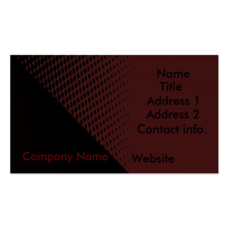 Retro black and red business card