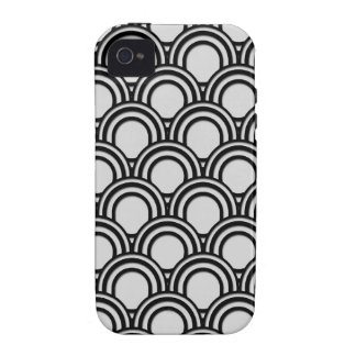 Retro Black and White Art Deco Abstract Pattern iPhone 4/4S Case