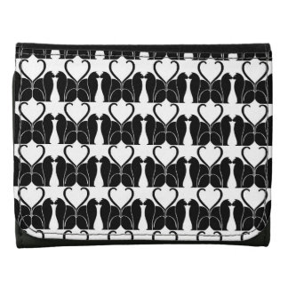 Retro Black and White Cat Pattern Wallets