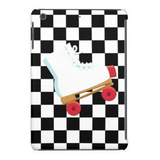 Retro Black and White Checked Rollerskate iPad Mini Retina Covers
