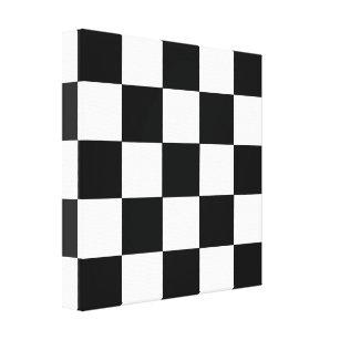 black white checkerboard canvas art prints zazzle