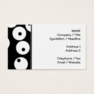 Retro black and white circle design. business card