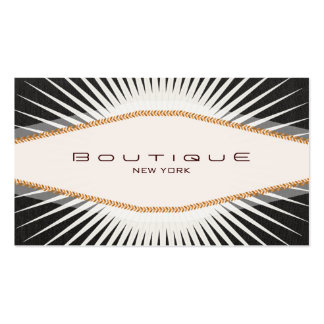 Retro Black and White Diamond Plaque Double-Sided Standard Business Cards (Pack Of 100)