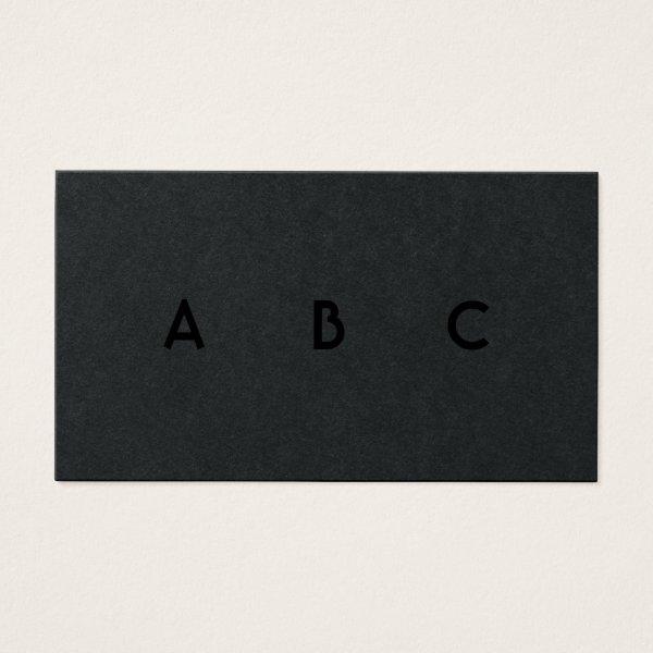 Retro Black and White Diamonds Monogram Business Card