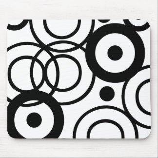RETRO BLACK AND WHITE MOUSE PAD