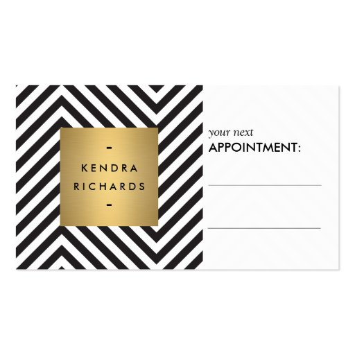 Retro Black and White Pattern Appointment Card Business Card Templates