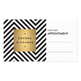 Retro Black and White Pattern Appointment Card Double-Sided Standard Business Cards (Pack Of 100)