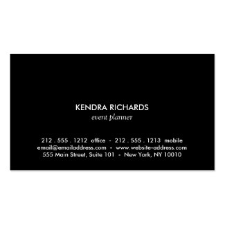 Retro Black and White Pattern Gold Name Logo Business Card Templates