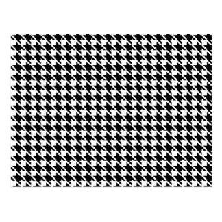 Retro black and white pattern postcard