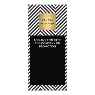Retro Black and White Pattern Rack Card