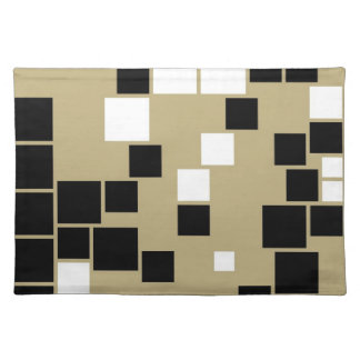Retro Black and White Pattern Seamless Art Cloth Placemat