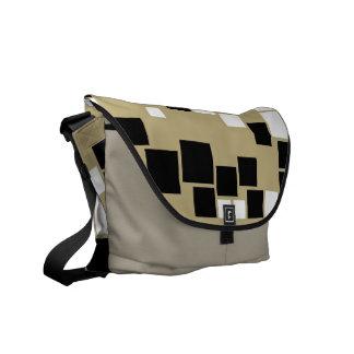 Retro Black and White Pattern Seamless Art Messenger Bag