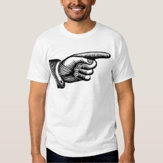 Retro Black and White Pointing Finger Shirt