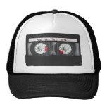 Retro Black Cassette Tape Hats