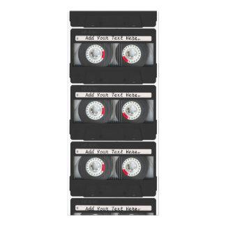Retro Black Cassette Tape Custom Rack Card