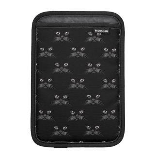 Retro Black Cat Feline Pattern iPad Mini Sleeves